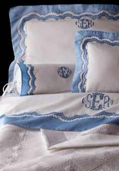 monogram bed linens~ leron love