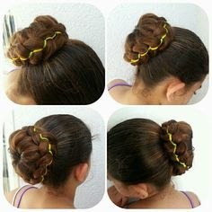 5strand braided bun