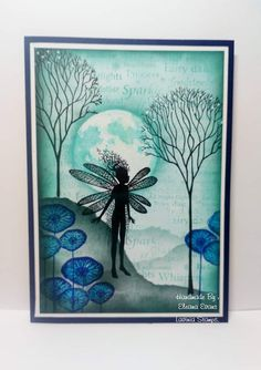 Lavinia Stamps Cards, Silhouette Painting, Alcohol Ink Painting, Distress Ink, Wisteria, Stamping Up, Card Making, Fairy, Paper Crafts