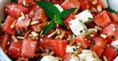 transglobal pan party / Food & Travel Blog: SOMMERSALAT: WASSERMELONE-FETA