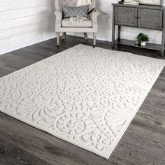 My Texas House By Orian Bluebonnets Area Rug - Walmart.com - Walmart.com Teal Area Rug, White Area Rug, White Rugs, Blue Area, Natural Area Rugs, Texas Homes, Indoor Outdoor Area Rugs, Outdoor Spaces, Rectangular Rugs