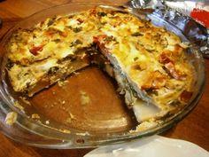 Zapečený baklažán (fotorecept) - Recept Lasagna, Quiche, Vegetarian, Breakfast, Ethnic Recipes, Food, Morning Coffee, Essen, Quiches