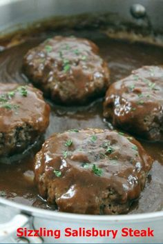 Sizzling Salisbury Steak