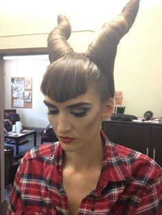 Maleficent hair @samanthatwn1 do this since you have long hair!!!!!!