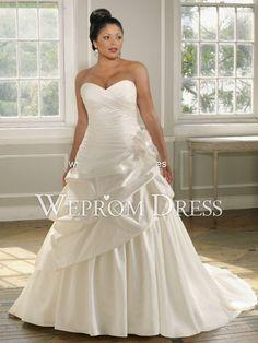 D blanco vestidos de novia strapless