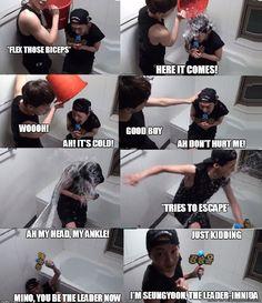 Seungyoon's ALS water bucket challenge.