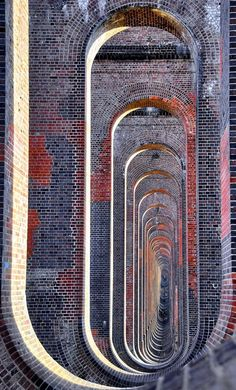Through the arches of the Balcombe viaduct. Extraordinary early 19C architecture