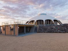 The Volcano House - It's located in Newberry Springs, California, which is about halfway between Los Angeles and Las Vegas.