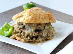 Biscuits and Gravy Burger by Lindsey Cook