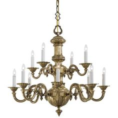 Virginia Metalcrafters Chandelier | Virginia Metalcrafters/ Brass ...:Metropolitan® Family Collection - Twelve Light Chandelier - Twelve Light  Chandelier in Traditional Solid Cast,Lighting