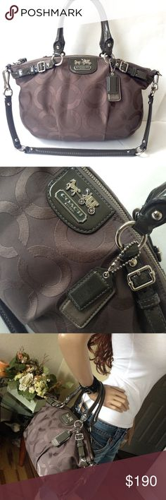 Rare Coach Op Art Taupe Madison Sophia Satchel Absolutely stunning authentic Coach Taupe Op Art Madison Sophia Satchel. A work of art. Coach Bags Satchels
