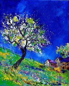 0173  Spring Landscape Print by Pol Ledent