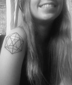 i'd love this tattoo. icosahedron representing water
