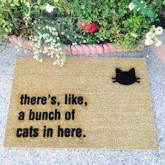 Cat welcome mat