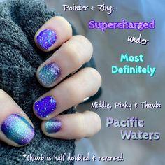 Nail Bling, Sparkle Nails, Nail Color Combos, Nail Colors, Manicure Ideas, Nail Ideas, Pedicure Colors, Nail Time, Color Street Nails