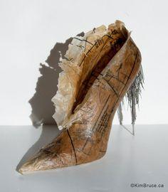 "Kim Bruce - The Point - Beeswax, dressmaker patterns, pins, 3""w x 7""h x 8""d, shoe artists"