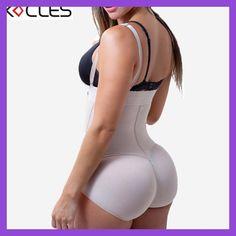 Plus Size Hot Latex Women's Body Shaper Post Liposuction Girdle Clip and Zip Bodysuit Vest Waist Shaper Reductoras Shapewear
