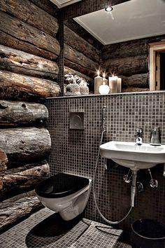Top 60 Best Log Cabin Interior Design Ideas - Mountain Retreat Homes Home Design, Cabin Interior Design, Bathroom Interior Design, Modern House Design, Design Ideas, Design Design, Bathroom Inspiration, Interior Inspiration, Bathroom Ideas