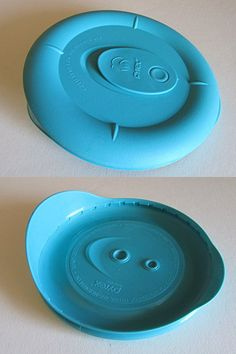 Pyrex Deluxe - Turquoise 1 2/3 Cup Round Bowl Vented Lid