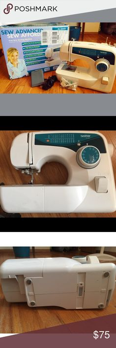 Brother XL sewing machine USER MANUAL NOT INCLUDED   not a scratch or 1 sign of use looks brand new been sitting in the original box in my closet .I have only used this 1 time .25 built in stitches,quick change pressed feet, 1-step auto size button holder ,built in storage ,jam resistant drop in top bobbin, Brightly lit work area , ability to sew multiple layers of fabrics , automatic threading  .If sewing is a hobby of yours  this is a great investment has great reviews online as well check…