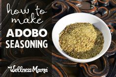 Adobo Seasoning Recipe Adobo seasoning is a versatile and robust seasoning that can be added to chicken, soups, grilled vegetables, and more! Adobo Seasoning, Seasoning Mixes, Seasoning Recipe, Adobo Spice Recipe, Homemade Spices, Homemade Seasonings, Spice Blends, Spice Mixes, Whole Food Recipes