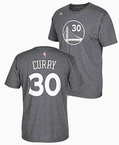 Stephen Curry Golden State Warriors High Def Dark Grey Select Replica T Shirt by Adidas $31.95