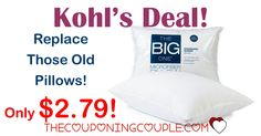 WOOHOO! Grab The Big One Microfiber Pillows for as low as $2.79 shipped (reg $11.99!) Perfect time to replace those pillows!  Click the link below to get all of the details ► http://www.thecouponingcouple.com/the-big-one-microfiber-pillow-only-2-54/ #Coupons #Couponing #CouponCommunity  Visit us at http://www.thecouponingcouple.com for more great posts!
