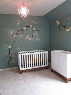 I love this for a nursery! It's so cute and can be grown into a little girls room.