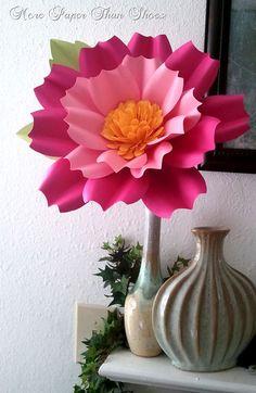 Handmade Paper Flower  Oversize Stemmed от morepaperthanshoes, $35.00