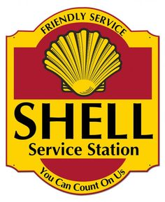 Friendly Shell Service Sign, Your Choice New OR Grunge Style x Metal Advertising Vintage Reproduction Gas Oil Garage Art Wall Decor - おもしろ画像 - Vintage Labels, Vintage Ads, Vintage Posters, Etsy Vintage, Garage Signs, Garage Art, Shell Gas Station, Old Gas Pumps, Etiquette Vintage