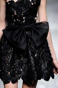 valentino black dress by tania