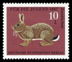Art - Stamp Art - Animal - German - Rabbit by Vintageprintable1, via Flickr