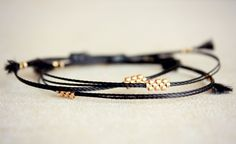 Original Shiloh / Black & Gold  Friendship Thread Bracelet