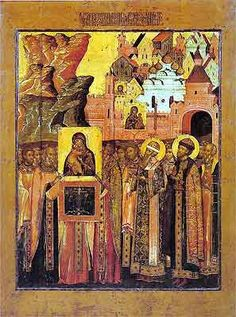 The meeting of the Vladimir Icon of the Mother of God