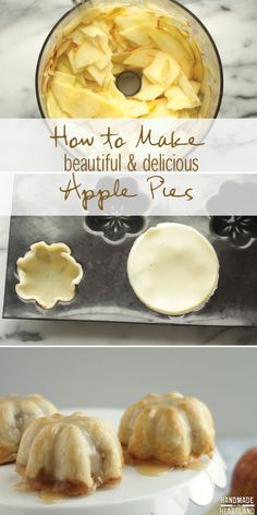 The Best Caramel Apple Pie Recipe! Make them mini or 1 large pie, best fall dessert! HandmadeintheHeartland.com