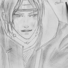 Itachi dessin dessiné par lolo drawing  drawn  by lolo