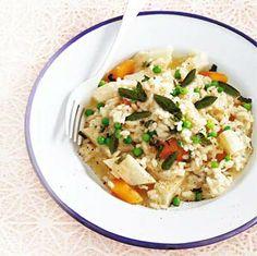 Recept - Risotto met knolselderij, wortel en salie - Allerhande