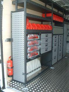 Van Storage, Trailer Storage, Truck Storage, Locker Storage, Van Organization, Garage Organisation, Milwaukee Tool Box, Van Racking Systems, Van Shelving
