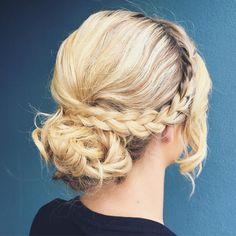 """Today's hair style  hair by @blakedesigns  #formalhair #bridalhair #instahair #hairstyle #updo #hairdo #upstyle #braid #fashion #hairoftheday #hairideas…"""