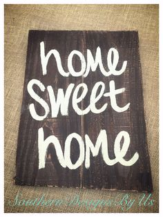 Home sweet home wood pallet sign by SouthernDesignsByUs on Etsy