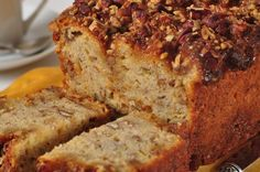Banana bread recipes food network recetas cocina recetas y cocinas banana streusel bread is wonderfully moist and has the flavors of bananas pecans and forumfinder Gallery