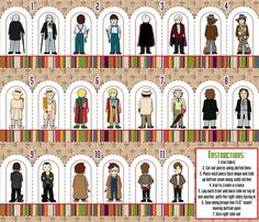 Doctor Who Inspired Finger Puppets fabric by risarocksit on Spoonflower - custom fabric