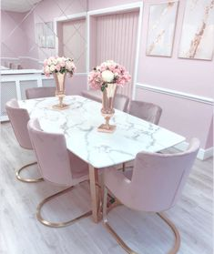 Luxury Dining Room, Dining Room Design, Room Decor Bedroom, Living Room Decor, Gold Bedroom, Living Rooms, Rose Gold Kitchen, Home Decor Inspiration, Room Decorations