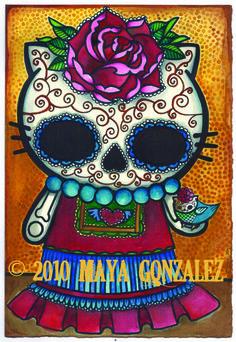 Kitty Frida-Tattoo idea?