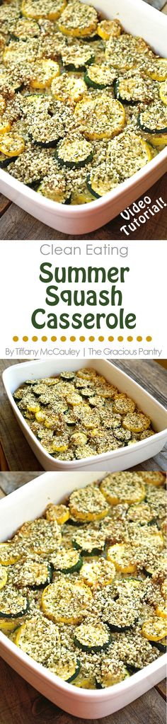This dairy free, Clean Eating Summer Squash Casserole is sure to please. It's allergy friendly and just plain delicious! ~ www.TheGraciousPantry.com