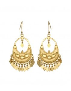 Satya Jewelry Gold Lotus Earrings - Shop holiday gifts for the world traveler in your life http://shop.harpersbazaar.com/trends/holiday-gift-guide/gifts-for-every-girl/