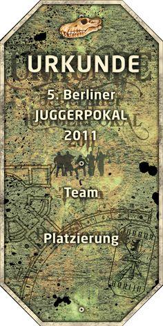 Urkunde 5. Berliner Juggerpokal 2011