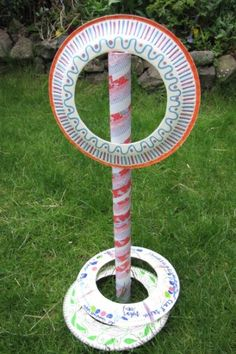 30 summer craft activities for your kids, Have a crafty afternoon making this cute garden game of Hoopla from a cardboard tube and paper plates. Then have a fun afternoon playing the game in t. Summer Games, Summer Activities, Craft Activities, Birthday Activities, Children Activities, Summer Crafts, Crafts For Kids, Craft Kids, Garden Party Games