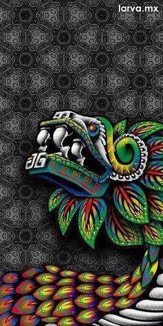 Aztec Warrior Tattoo, Mexican Art Tattoos, Aztec Tattoo Designs, Japanese Art Modern, Aztec Culture, Lowrider Art, Pop Art Wallpaper, Aztec Art, Chicano Art