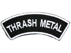 "http://www.ononeonline.com Thrash Metal Logo Iron On Sew On Embroidered Patch Applique 4.2""/10.5cm: Amazon.co.uk: Kitchen & Home"